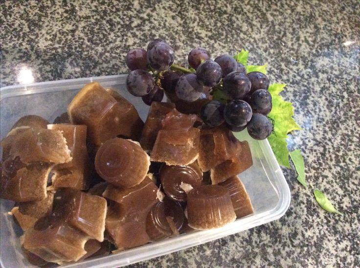 Grape juice gummies not the best colour