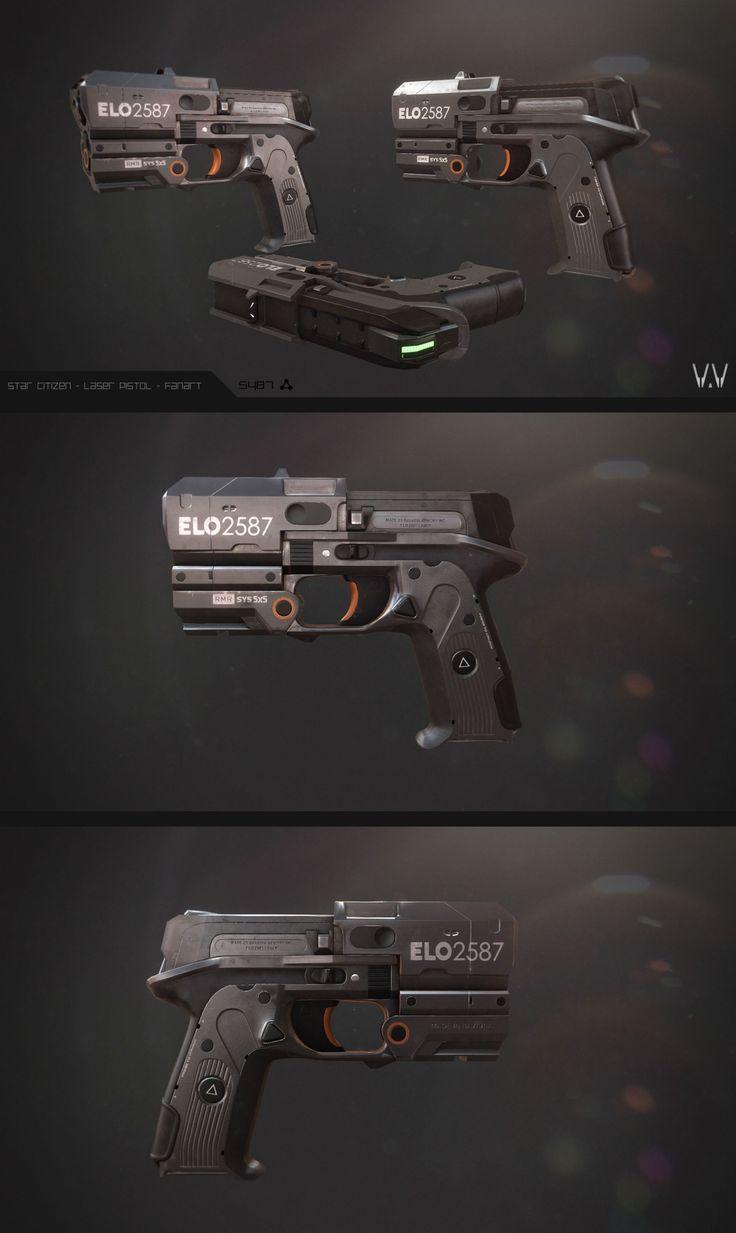 Sci-fi concept weapon - futuristic handgun/pistol http://www.polycount.com/forum/showthread.php?t=146362
