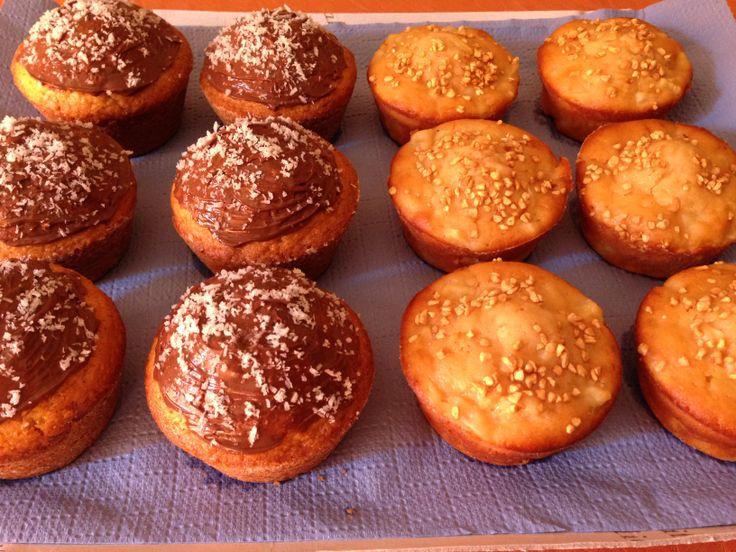Muffin al cocco e alle mele