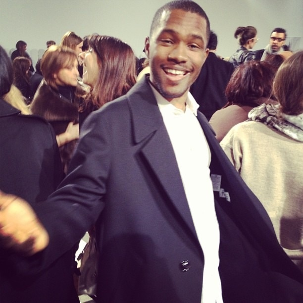 Frank Ocean at the Dior 2013 show...beautiful smile