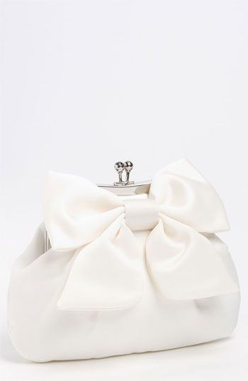 Sondra Roberts 'Large' Satin Bow Clutch available at #Nordstrom #nordstromweddings