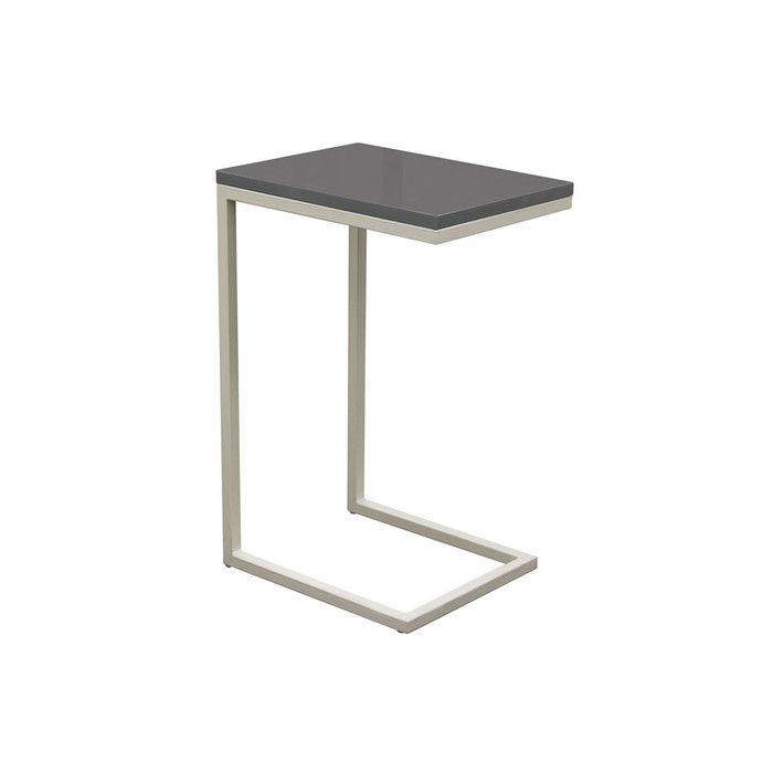 Diamond Sofa Edge Sleek Metal Frame Accent Table In Gray Grey