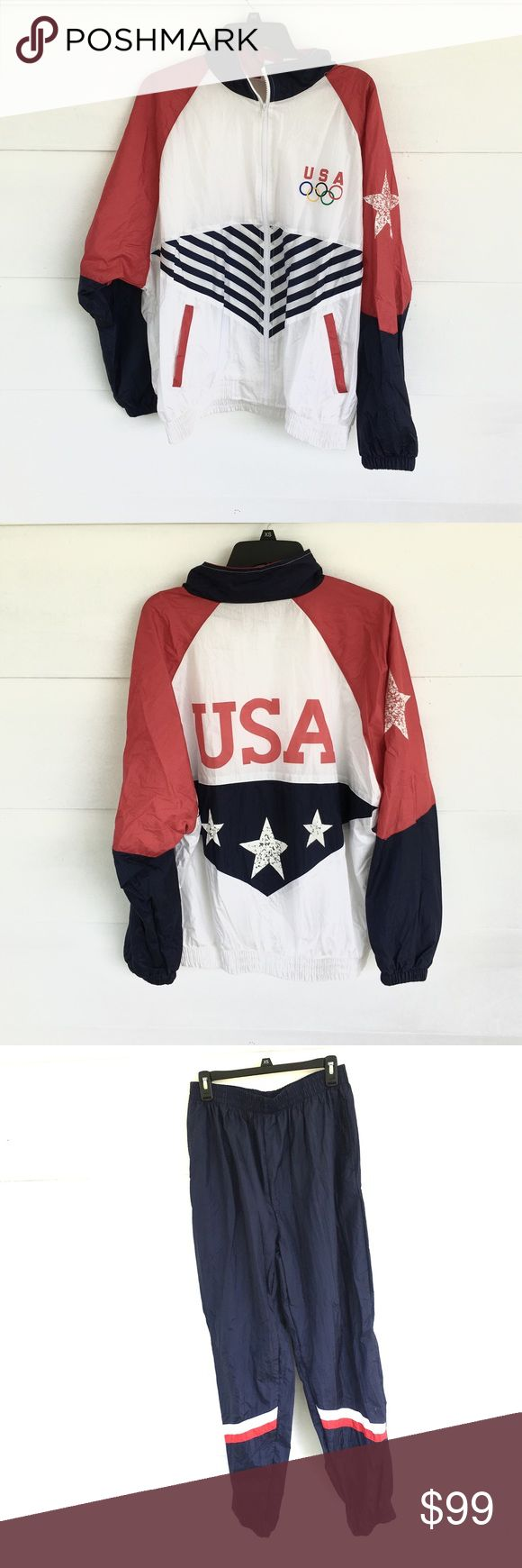 Team USA Olympic men's track suit set Jacket and pants. Vintage. Great condition Jackets & Coats Performance Jackets