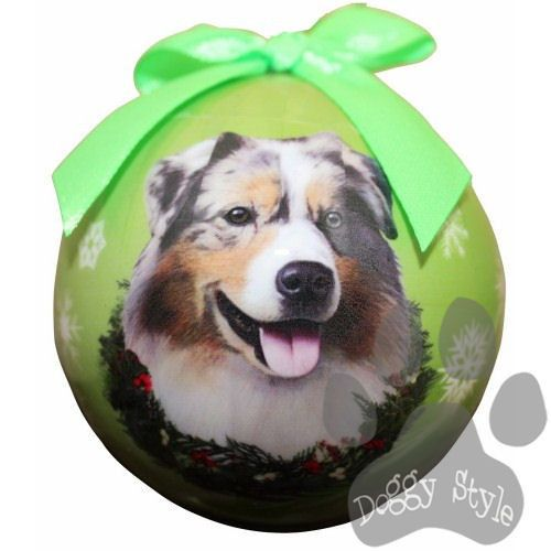 australian shepherd dog breed christmas ornament