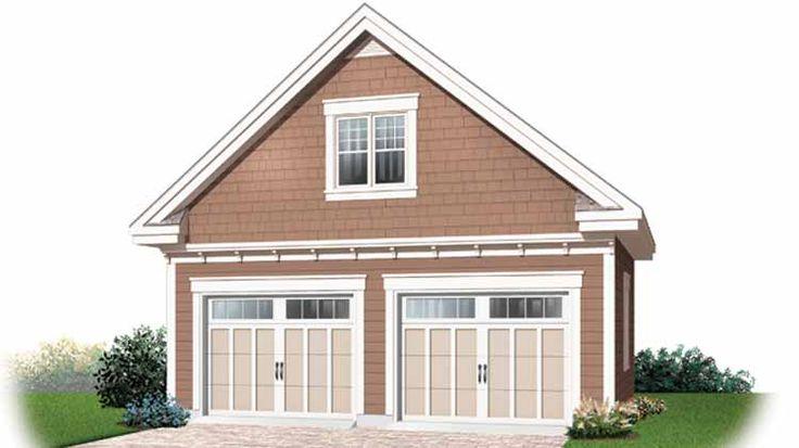 116 best garages images on pinterest garage doors home for Single car garage with loft