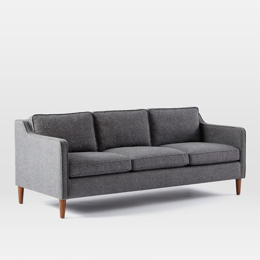 "Hamilton Upholstered Sofa / Size: 81""L x 36""D x 31.5""H / Cost: $1,299 / Availability: Item usually arrives in 1-3 wks as of 11.10"