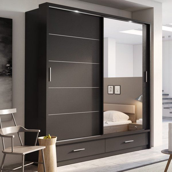 Brayden Studio Tengan 2 Door Sliding Wardrobe Reviews Wayfair Co Uk Wardrobe Design Bedroom Bedroom Closet Design Wardrobe Door Designs