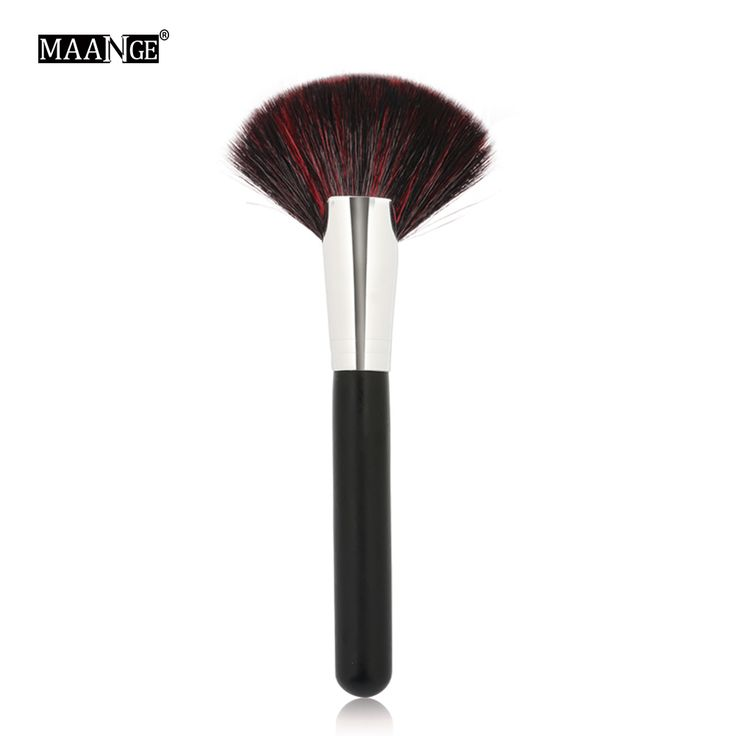 1Pcs Soft Makeup large Fan Brush Foundation Blush Blusher Powder Highlighter Brush Powder Dust cleaning brushes Cosmetic tool
