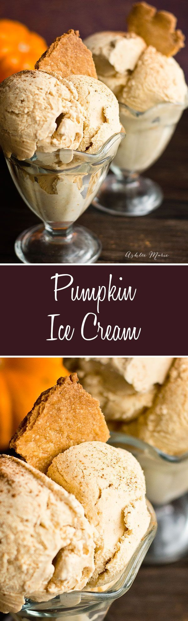 this ice cream is like a cold creamy pumpkin pie, always a hit at my house
