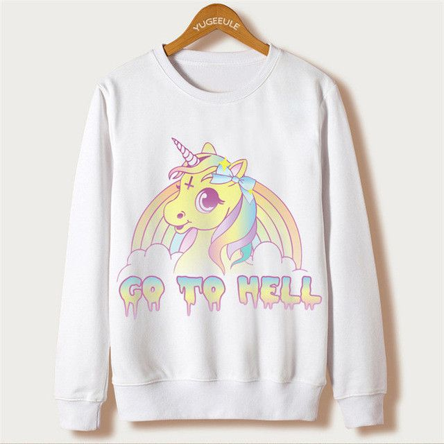 Fox Harajuku Sweatshirt Women Pullover 2017 Casual Animal Print White Hoodies Full Sleeve O-neck Women Clothing Casual Hooded
