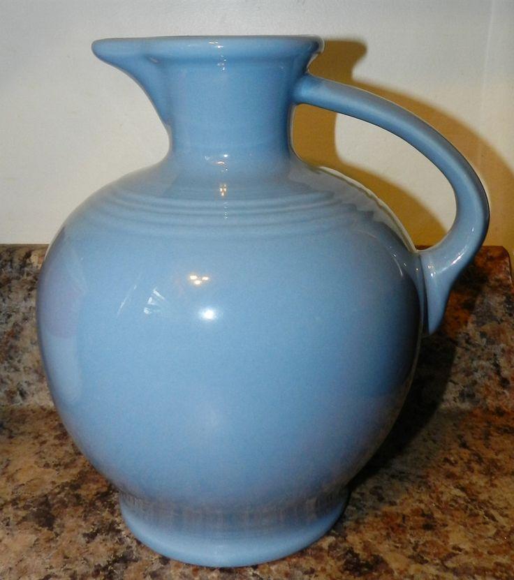 Homer Laughlin Fiesta Blue Juice Wine Carafe Pitcher Fiesta Ware by PeggysVintageVariety on Etsy