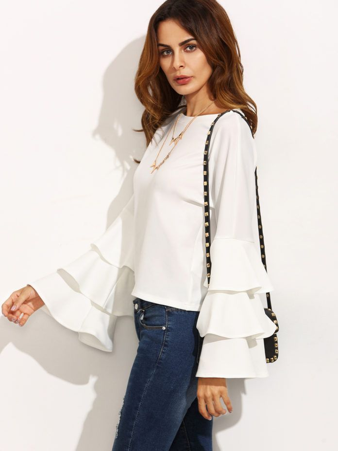 15 Ruffle shirt, Embellished top, Long sleeve shirts under $15   All in One Guide   Page 4