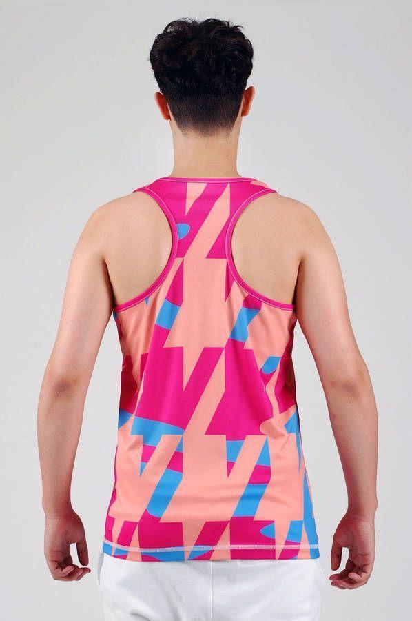 summertime summer workout  activewear gym wear menswear graphics colours pink sportswear pattern eye catching nottinghill london streetwear  carnally street soho