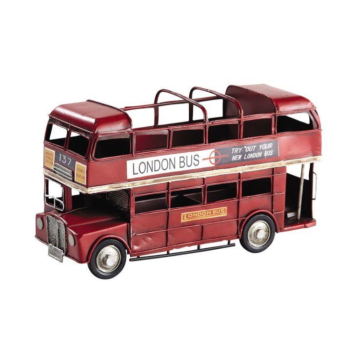 Porte-crayon rouge bus à impériale