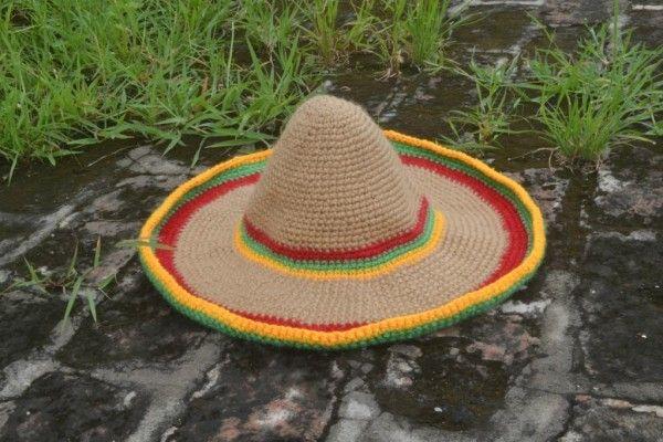 7 #crochet sombrero patterns for Cinco de Mayo - wearable crochet hat pattern for sale on Craftsy from Pradeepa