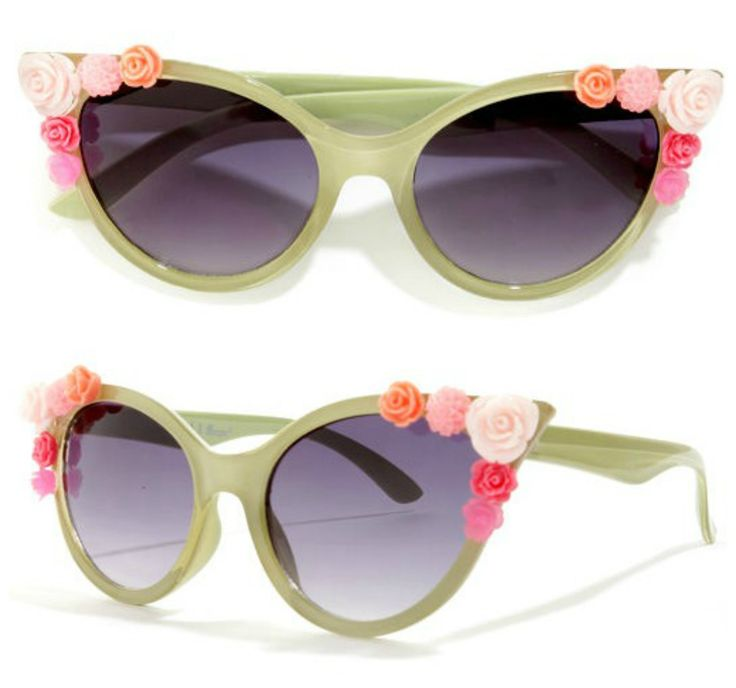 Lola Rose Embellished Green Sunglasses via lulus.com