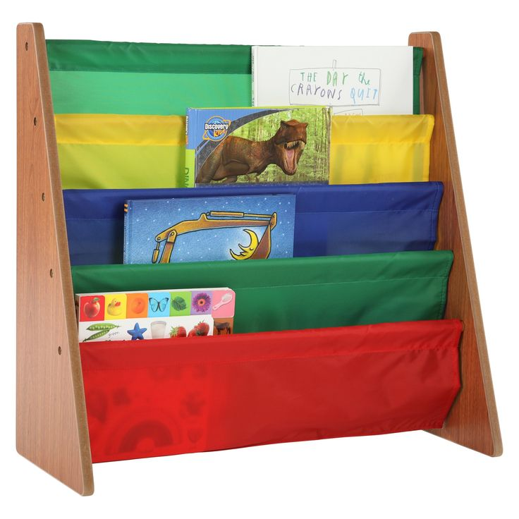 Book Rack - Highlight Collection - Dark Pine/Primary - Tot Tutors