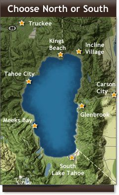 Whether it's summer lake activities or winter skiing, Lake Tahoe is a beautiful place to take your RV.