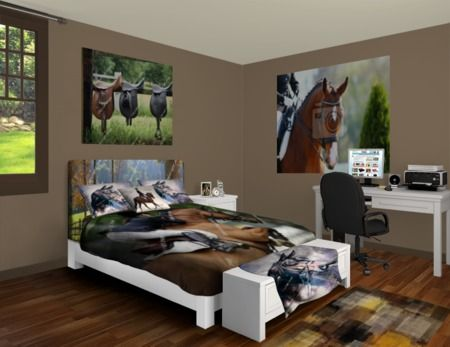 horse bedrooms | Custom Horse Bedding | Horse Bed Sheets, Comforters & Duvet Covers