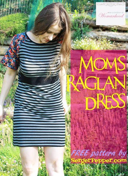 Serger Pepper - Sew-a-Bration of Womanwood - Moms Raglan Dress FREE pattern