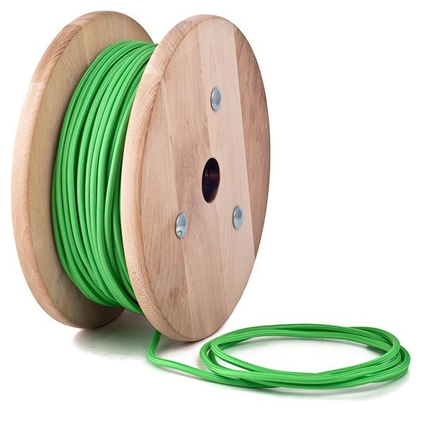 Apple green textile cable from Cablelovers
