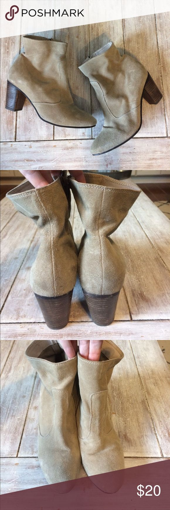 Tan suede Seychelles boots Tan suede heeled boots Shoes Ankle Boots & Booties