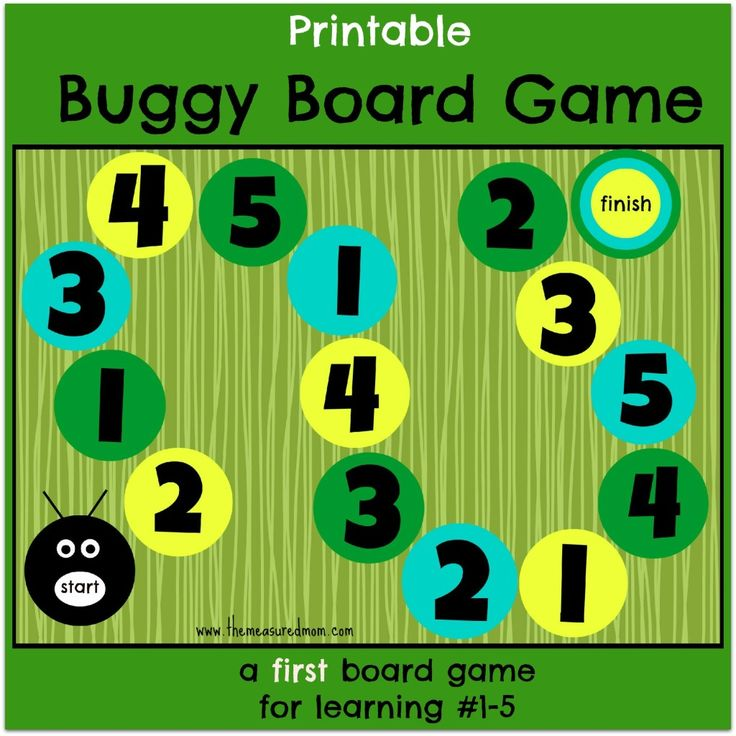 Buggy board game a first board game for preschoolers