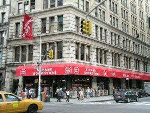 The Strand Bookstore in in Greenwich Village, NYC