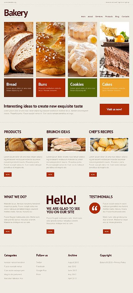Great responsive website templates for your projects - www.titantemplates.com !