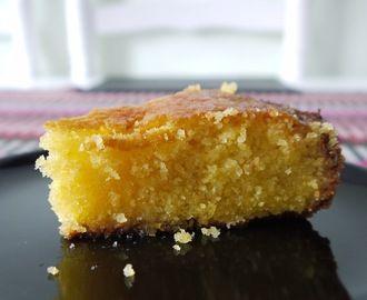 Citroen amandel polenta taart