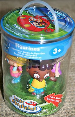 New little einsteins 4 figures Disney store rare box set cake toppers complete