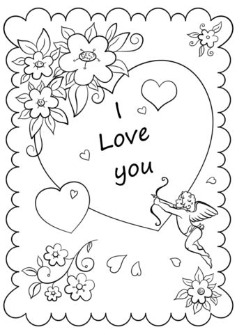 valentines day animals coloring pages - photo#46