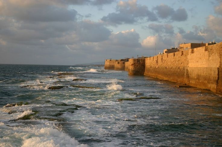 The fortress wall around the seaside town of Acre was built in 950 AD. Photos Israel Tourism Ministry