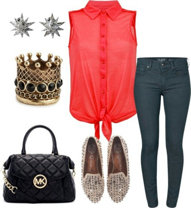 Cute outfit especially add ons