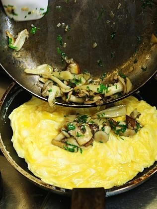 Matt Moran's mushroom omelette.