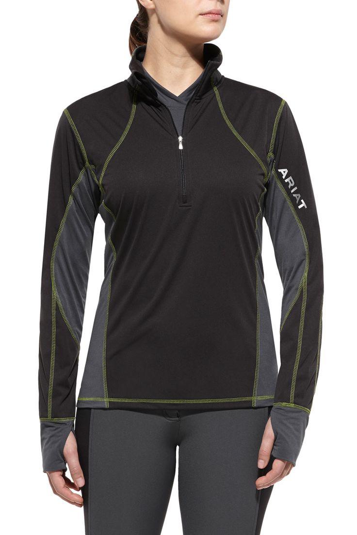 Ariat Women's Black Bryce 1/2 Zip Pullover Jacket