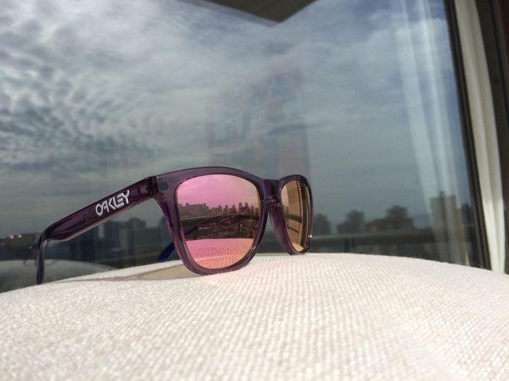 Oakley Frogskins SNOW Alpine Glow lente Pink iridium  http://www.chilelentes.cl/oakley/oakley-frogskins-1