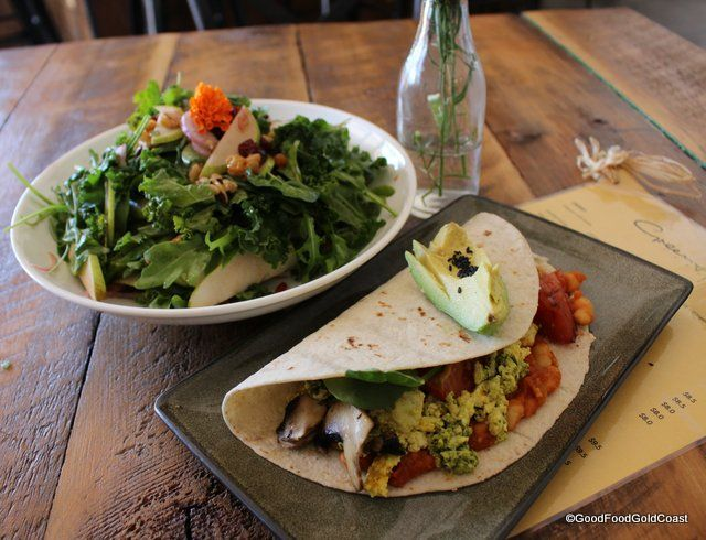 A licensed vegan restaurant? Welcome to the GreenHouse Factory! Kirra Beach, Gold Coast.