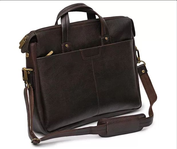Deal of the day #Stylish dark brown leather laptop bags for men