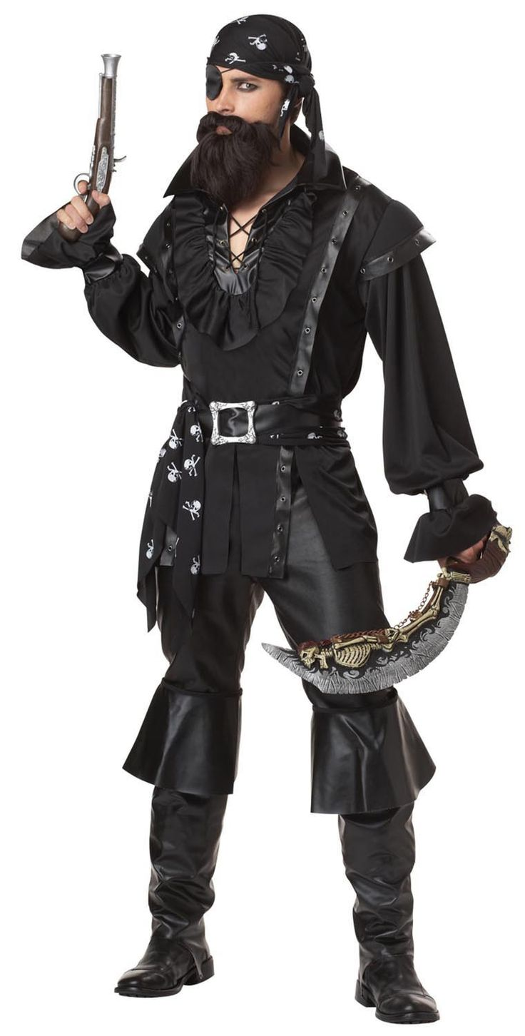 Black Plundering Pirate Costume Adult