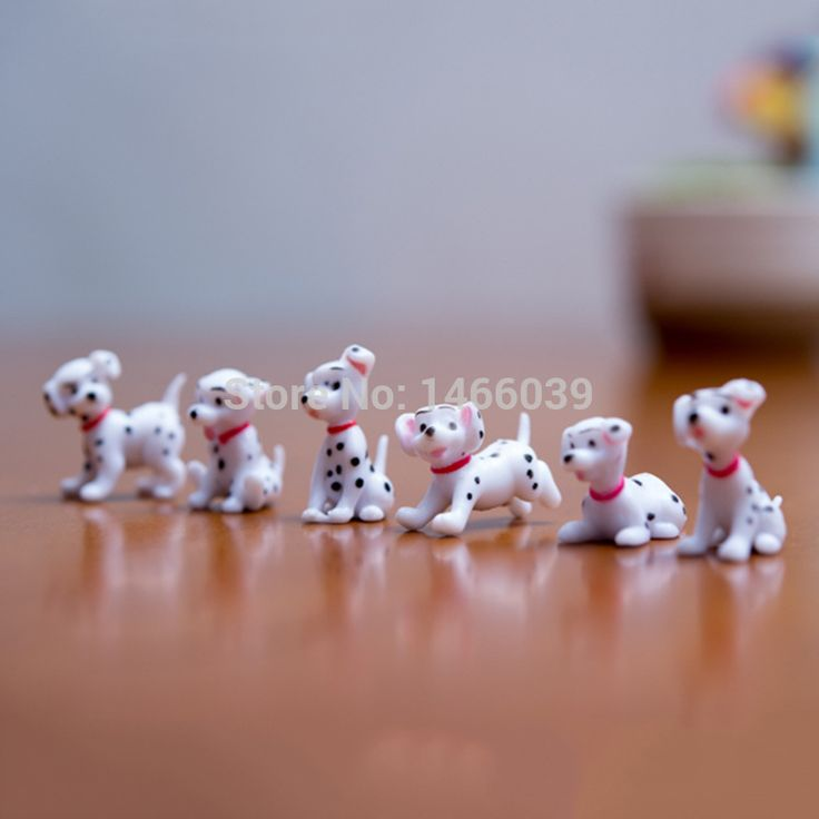 Sale 6Pcs/set lovely mini animals miniatures plants fairy garden gnome moss terrarium decor crafts bonsai home decor for DIY