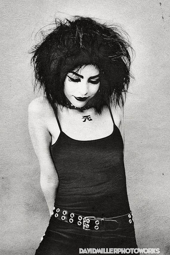 Lacheln as Death/ Siouxsie Sioux model 8x12 by JayStreetArtLab, $30.00