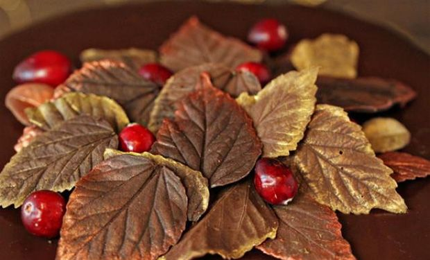Sweet Tooth: Edible Chocolate Leaves That Double As Decoration