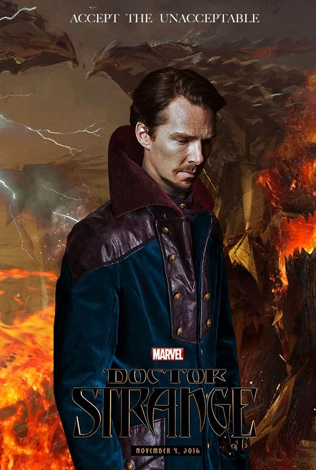 Benedict Cumberbatch as Doctor Strange, not official but still cool