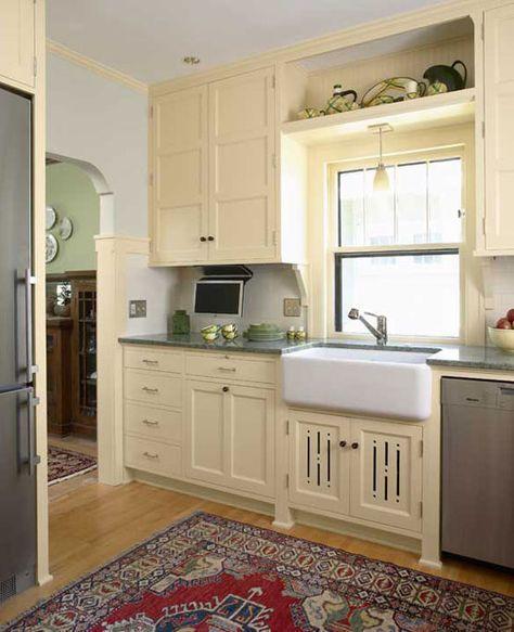 Period Kitchens Designs Renovation: Remodeling Kitchen Cabinets 1920s Revival Kitchen. Natural
