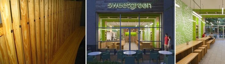 Find us in Sweetgreen in the DC area and the main line in Philadelphia. Our reclaimed bowling lane tables are ecofriendly.