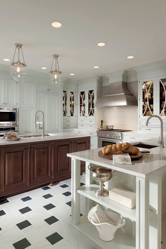 High Quality White Kitchen With Wood And Black Accents. Works Wonderfully! Http://www