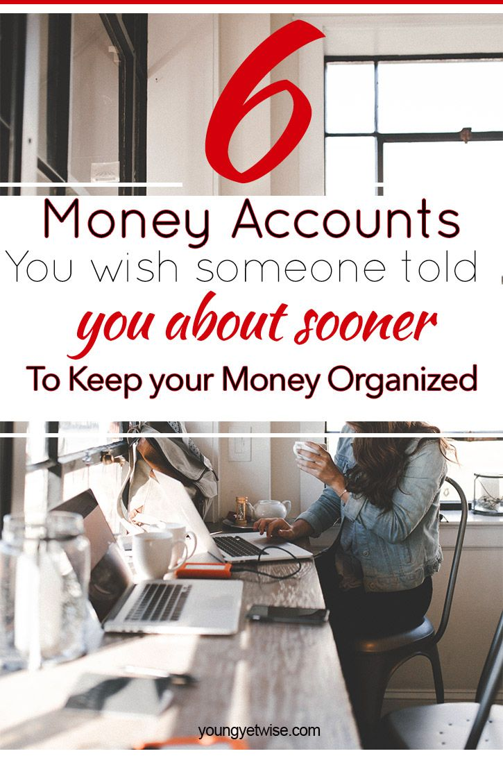 6 money accounts you wish someone told you about sooner. Wow what a great post to help me keep my money organized. I've been struggling with what savings accounts I should have and how to go about saving more money for my specific money goals. This post gives a great break down