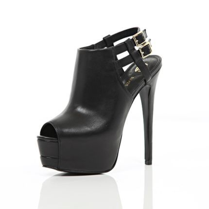 Black peep toe platform stilettos - heels - shoes / boots - women