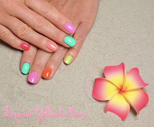 Depend Gellack Neon sommaren 2014 - Pssion skönhetsblogg